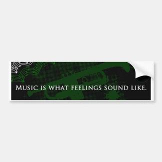Wie Musik ist, was Gefühle klingen Autoaufkleber