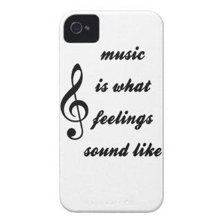 Wie Musik ist, was Gefühle klingen iPhone 4 Cover