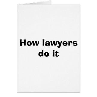 Wie Rechtsanwälte es tun Karte