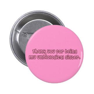 Wie Schwester-Knopf Runder Button 5,1 Cm