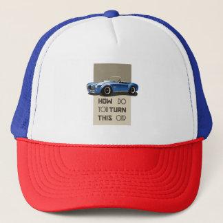 Wie Sie dieses auf blauem Kobraauto drehen Truckerkappe