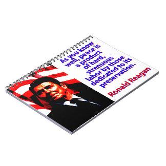 Wie Sie gut wissen - Ronald Reagan Notizblock