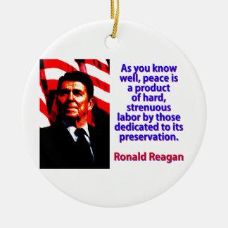 Wie Sie gut wissen - Ronald Reagan Rundes Keramik Ornament