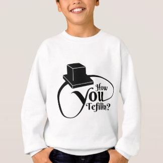 Wie Sie Tefillin - Schwarzes Sweatshirt