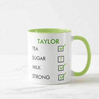 Wie tun Sie, mögen Sie Ihre Tee personalisierte Tasse