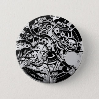 Wie Uhrwerk Runder Button 5,1 Cm