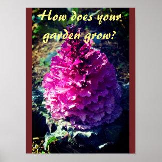 Wie wächst Ihr Garten? Poster