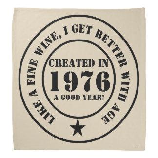 Wie Wein erhalte ich älter und besser! Halstuch