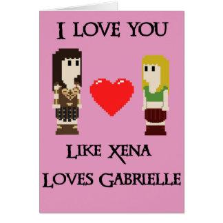 Wie Xena und Gabrielle Grußkarte