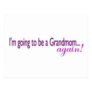 Wieder gehen, ein Grandmom zu sein Postkarte