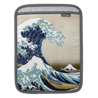 Wieder hergestellte große Welle weg von Kanagawa Sleeve Für iPads