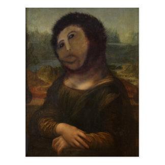 wieder hergestellte Mona Lisa Postkarte