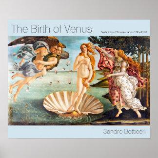 Wieder hergestellte und Recolored Botticelli Poster