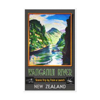Wieder hergestelltes Vintages Plakat Neuseelands Leinwanddruck