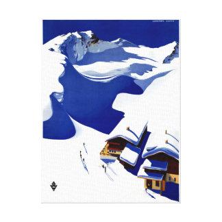 Wieder hergestelltes Vintages Reise-Plakat Leinwanddruck