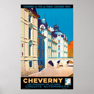 Wieder hergestelltes Vintages Reise-Plakat Poster