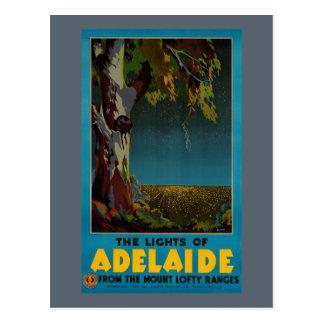 Wieder hergestelltes Vintages Reise-Plakat Postkarte