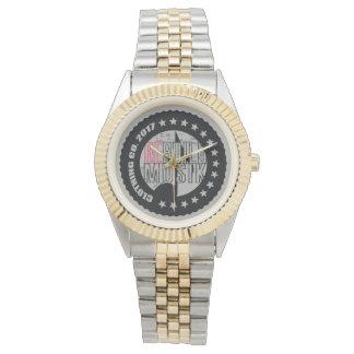 Wiederaufbauen-Kleidungs-Uhr Armbanduhr