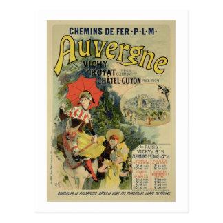 Wiedergabe einer Plakatwerbung 'Auvergne Postkarte