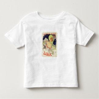 """Wiedergabe einer Plakatwerbung """"Lidia"""", an t T Shirts"""