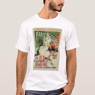 Wiedergabe einer Plakatwerbung 'Paris-Kurs T-Shirt