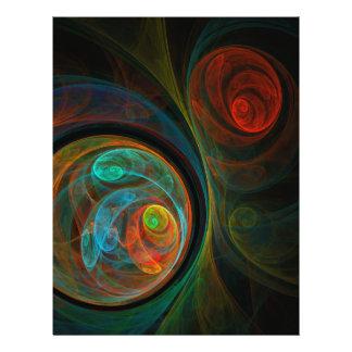 Wiedergeburt-blauer abstrakter Kunst-Flyer 21,6 X 27,9 Cm Flyer