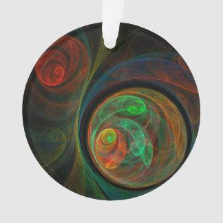 Wiedergeburt-grüner abstrakter Kunst-Acryl-Kreis Ornament