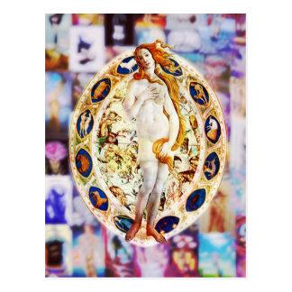 Wiedergeburt von Venus Postkarte