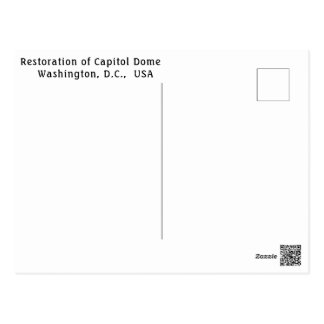 Wiederherstellung der Hauptstadts-Haube, Postkarte