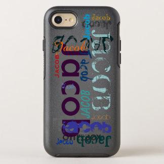 Wiederholen von Name 5 Buchstaben iPhone OtterBox Symmetry iPhone 8/7 Hülle