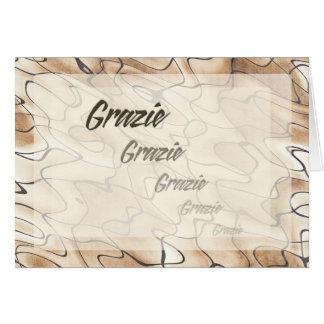 Wiederholter Dank auf italienisch Karte
