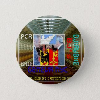 Wiedervereinigungde Genf NYC und Genève PCA Runder Button 5,7 Cm