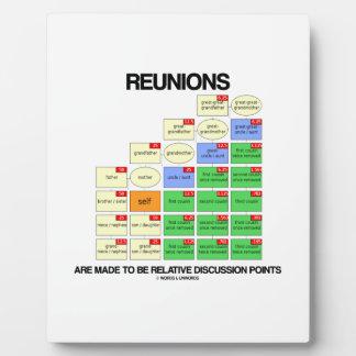Wiedervereinigungen werden gemacht, um relative schautafeln