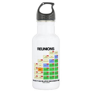 Wiedervereinigungen werden gemacht, um relative trinkflaschen