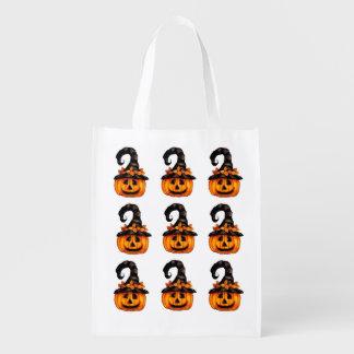 Wiederverwendbare Halloween-Kürbis-Leckerei-Tasche Wiederverwendbare Einkaufstasche