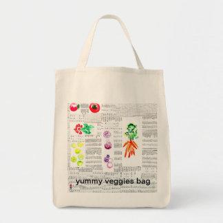 wiederverwendbare leckere Veggiestasche Einkaufstasche