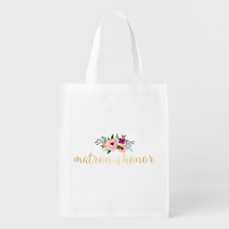 Wiederverwendbare Tasche - Blumenmatrone der Wiederverwendbare Einkaufstasche