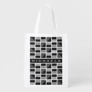 Wiederverwendbare Tasche des geometrischen Wiederverwendbare Einkaufstasche