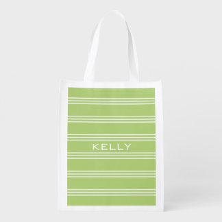 Wiederverwendbare Tasche des Limonen grünen Wiederverwendbare Einkaufstasche