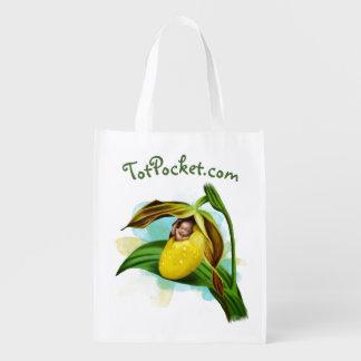 Wiederverwendbare Tasche - gelbes Frauenschuh Baby Wiederverwendbare Einkaufstasche
