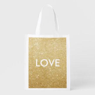 Wiederverwendbare Tasche - Liebe/xoxo Einkaufstasche