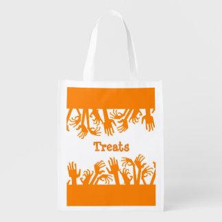 Wiederverwendbarer Halloween-Zombie übergibt Wiederverwendbare Einkaufstasche