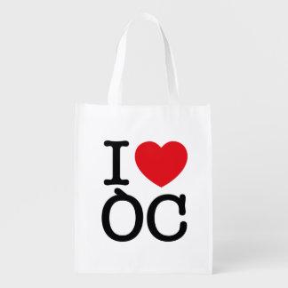 """Wiederverwendbarer Sack """"I Love Oc """""""