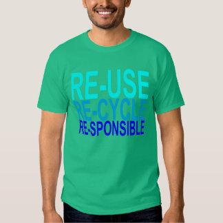 Wiederverwendung recyceln verantwortliches - hemd