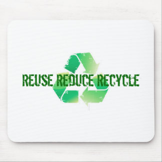 Wiederverwendung verringern recyceln mousepad