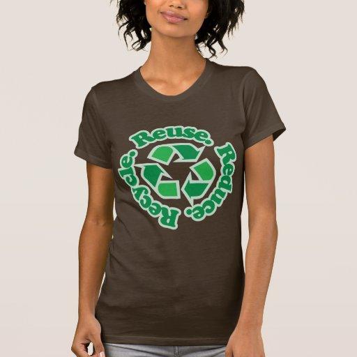 Wiederverwendung verringern recyceln shirt