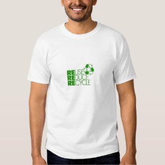 Wiederverwendung verringern recyceln tshirts