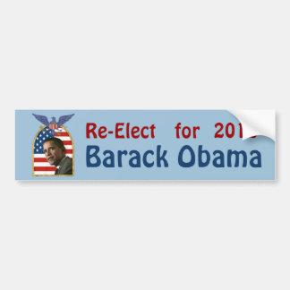 Wiederwahl Barack Obama für 2012 Autoaufkleber