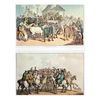 """Wiegendes und reibenDown und """"das Wetten Postkarte"""