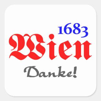 Wien 1683 - Danke Quadratischer Aufkleber
